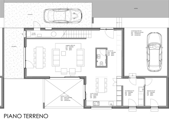Planimetrie case casa a schiera su livelli with for Planimetrie ville moderne